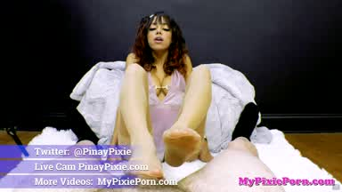 FREE PREVIEW: POV FOOTJOB Experiments in STOCKINGS